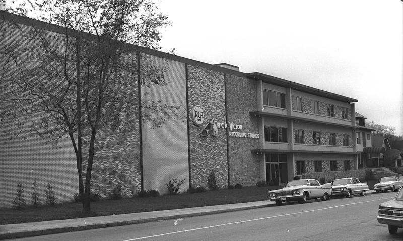 A view of the offices and studios of RCA Records in the area known as Music Row in October 1965 in Nashville Tennessee. The property includes Studio A and Studio B.