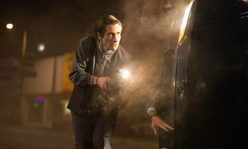 Jake Gyllenhaal in <em>Nightcrawler</em>, written and directed by Dan Gilroy