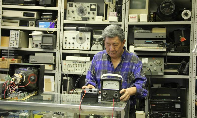 CT Lui in his shop, CTL Electronics
