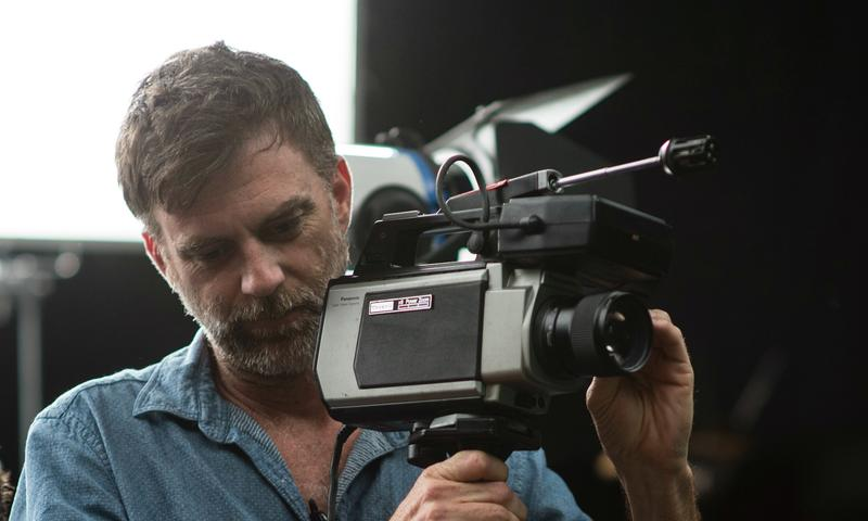 Paul Thomas Anderson on the set of <em>Inherent Vice</em>