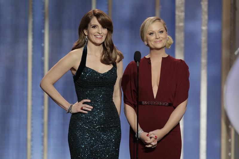 Tina Fey and Amy Poehler host the 70th Annual Golden Globe Awards at the Beverly Hilton Hotel International Ballroom on January 13, 2013.