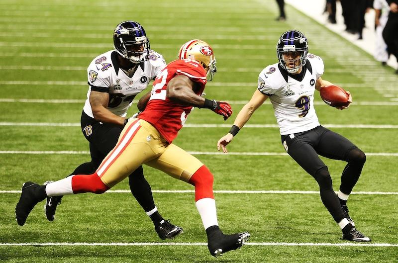 The Baltimore Ravens face off against the San Francisco 49ers at Super Bowl XLVII