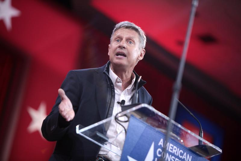Former Governor Gary Johnson of New Mexico speaking at the 2015 Conservative Political Action Conference.