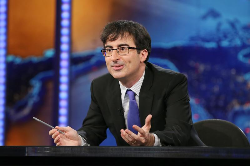 "John Oliver guest hosts an episode of ""The Daily Show with Jon Stewart."""