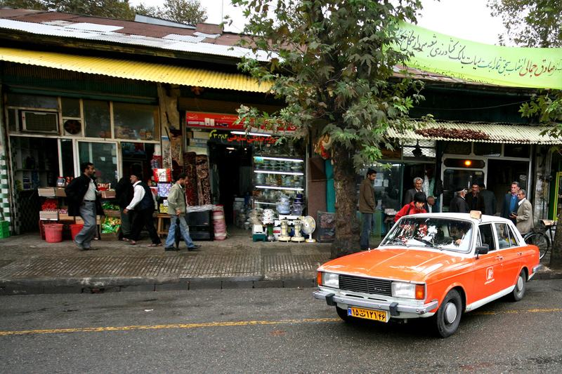 A Paykan used as a taxi in the Iranian city of Rasht. October 18, 2007
