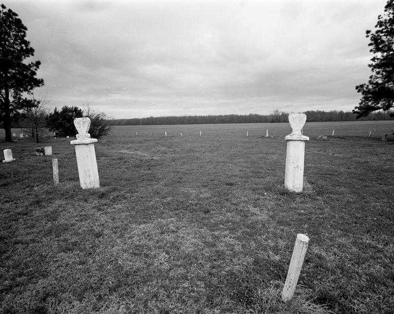 Abandoned cemetery, Louisiana, 1997