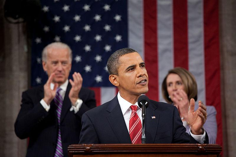President Obama delivers the 2010 State of the Union address on January 27, 2010.