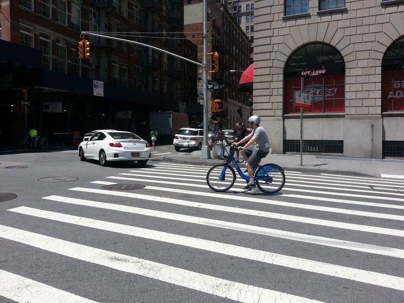Citi Bike rider