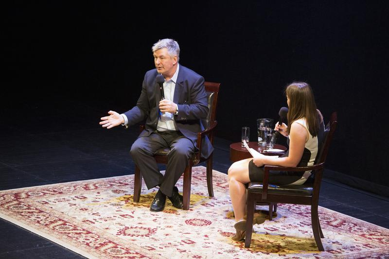 Alec Baldwin and Anna Sale at BAM