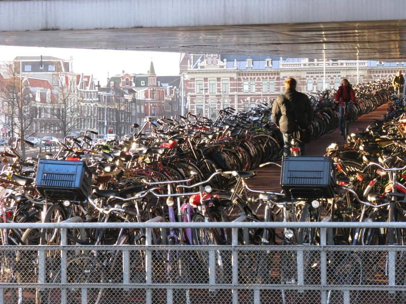 Bike parking in Amsterdam