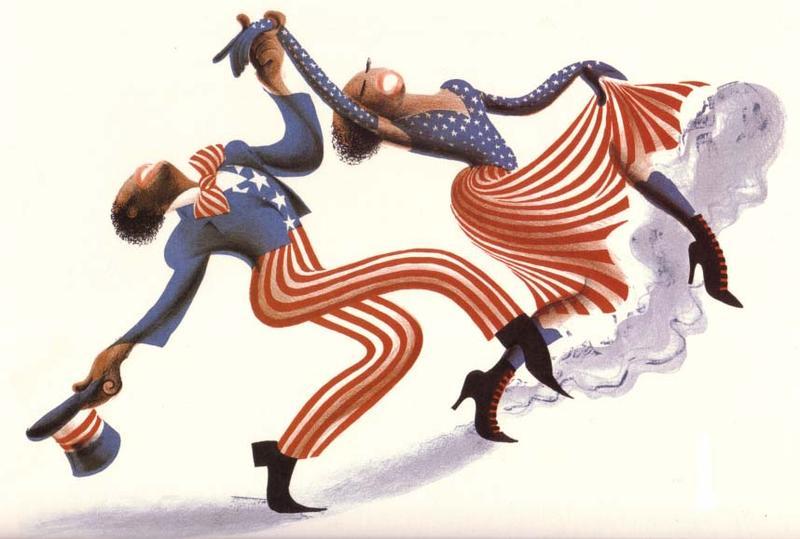 Cakewalk, 1970, Lithograph from the Rhythm Series portfolio