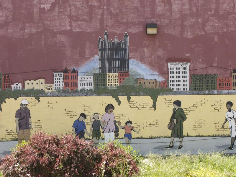 A mural in the East Liberty neighborhood of Pittsburgh, PA.