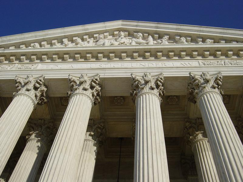 "The words ""Equal Justice Under Law"" are inscribed on the front of the U.S. Supreme Court."
