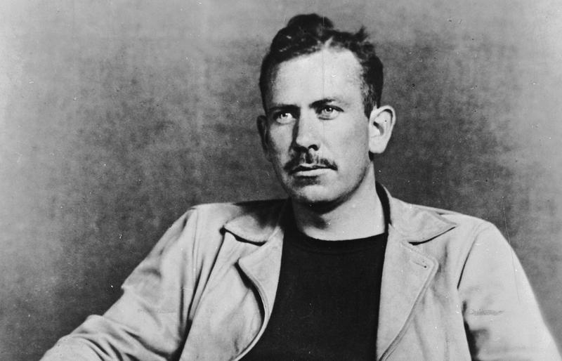 A photo of U.S. novelist John Steinbeck in the 1930s.