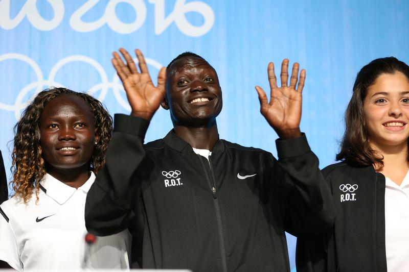 Members of the first refugee team in Olympic history. August 2016