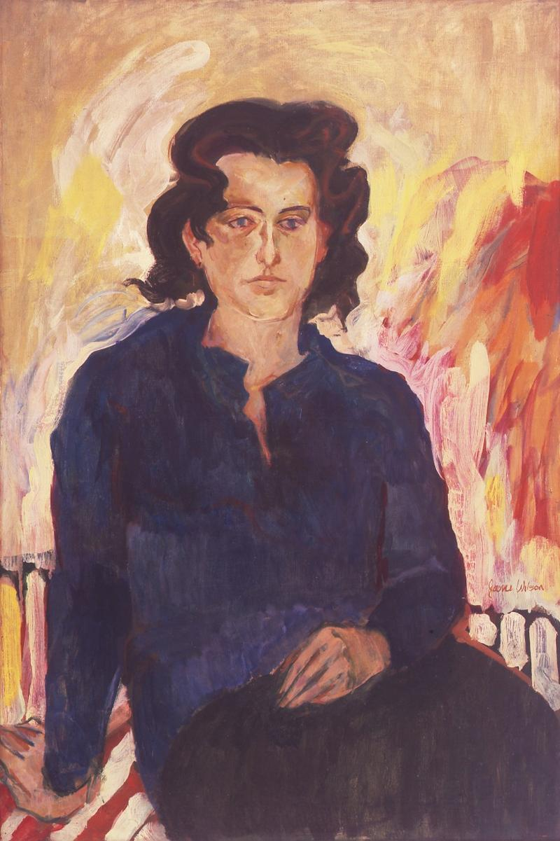 """""""Portrait of Jane Freilicher"""" by Jane Wilson now on view at the Grey Art Gallery"""
