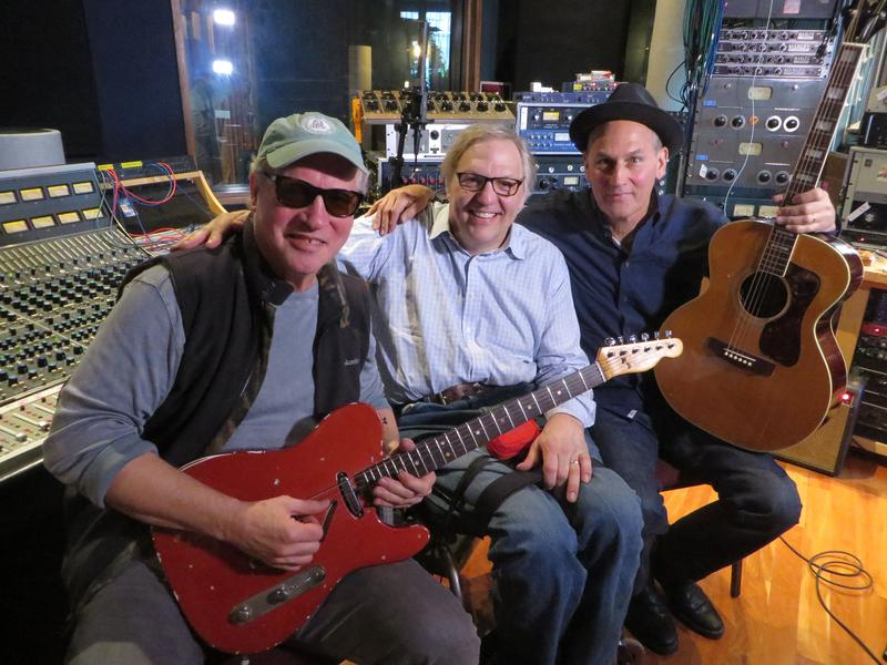 L to R: Tommy Heath of the band Tommy Tutone, Takeaway Host John Hockenberry, and Jim Keller of Tommy Tutone.