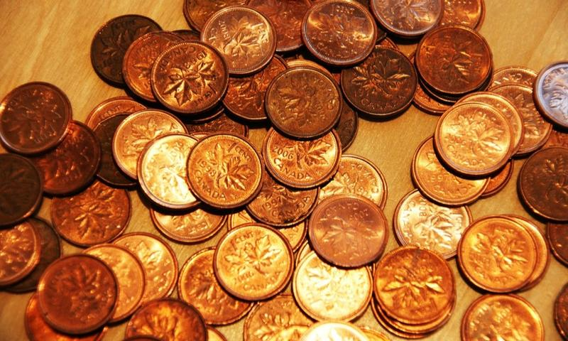 Canadian pennies