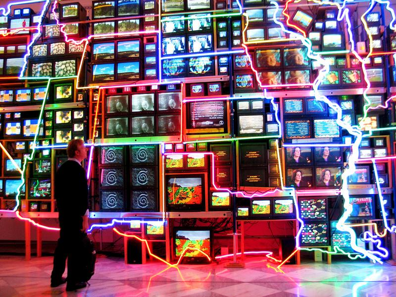 Nam June Paik sculpture at the Smithsonian American Art Museum. March 2009