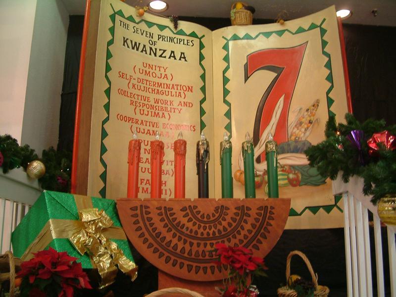 The Seven Principals of Kwanzaa display