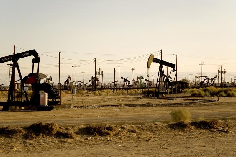 Oil wells north of Bakersfield, CA