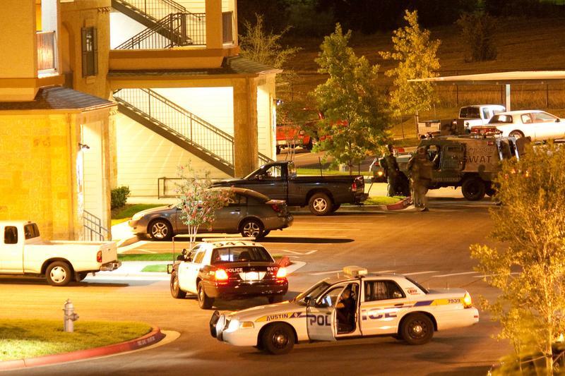 A police raid in Austin, Texas
