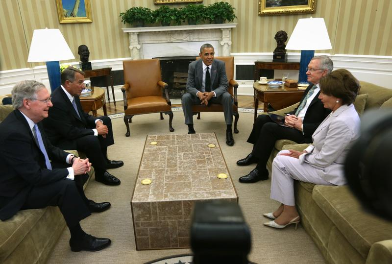 President Obama meets with the congressional leadership to discuss U.S. options on responding to the actions of Sunni militants in Iraq.