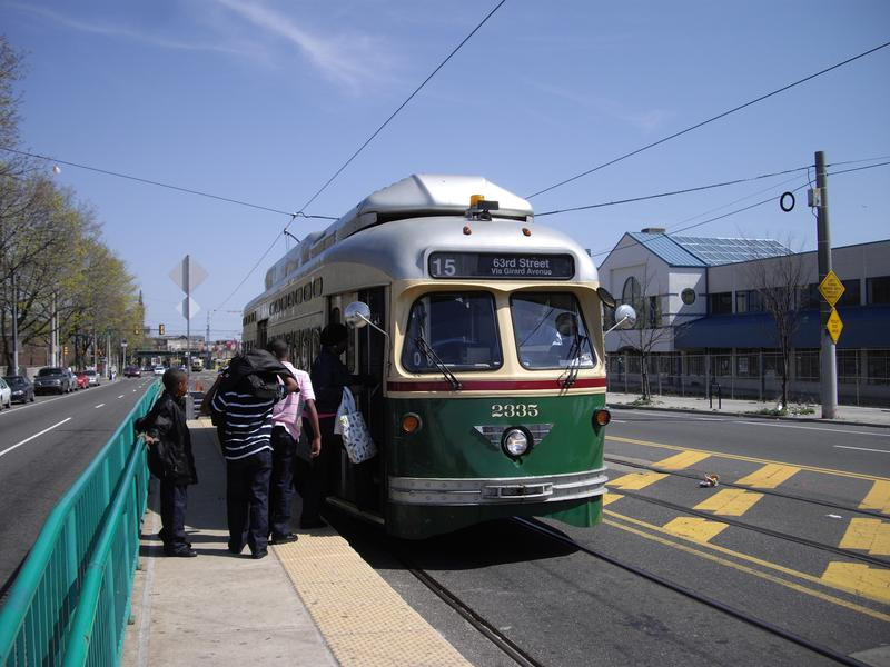 A Philadelphia trolley