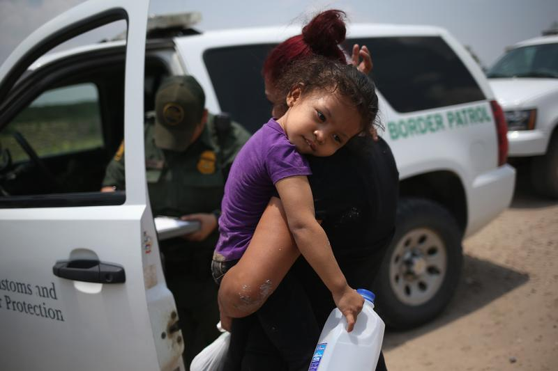 A 3-year-old after crossing the border from El Salvador.