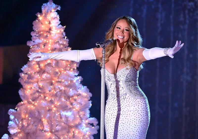 Mariah Carey performs at the 81st Annual Rockefeller Center Christmas Tree Lighting Pre-Tape at Rockefeller Center on December 3, 2013 in New York City.