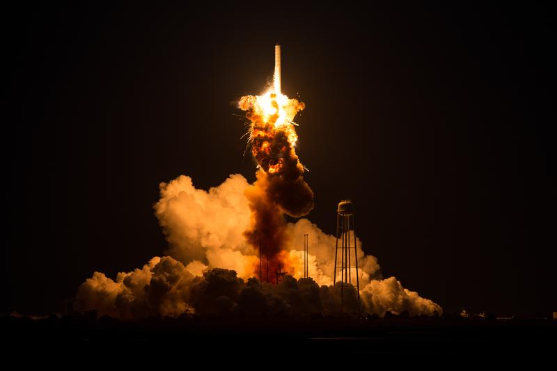 In this handout provided by NASA, the Orbital Sciences Corporation Antares rocket suffers a catastrophic anomaly moments after launch. Oct. 28, 2014