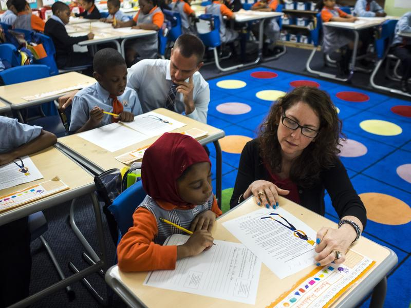 Eva Moskowitz of Success Academy Charter Schools at a Harlem location