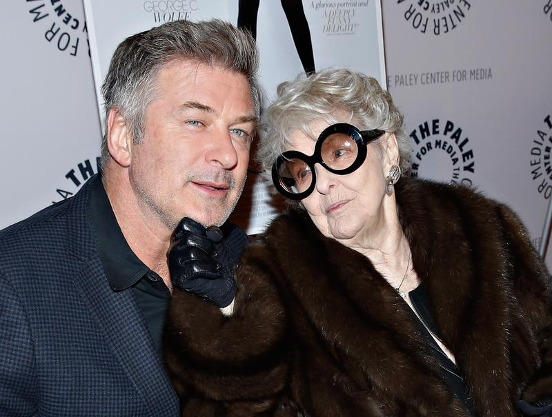 "Actors Alec Baldwin and Elaine Stritch attend a screening of 'Elaine Stritch: Shoot Me.' Stritch also played Baldwin's mother on the NYC show ""30 Rock."" She died on July 17th, 2014 at the age of 89."