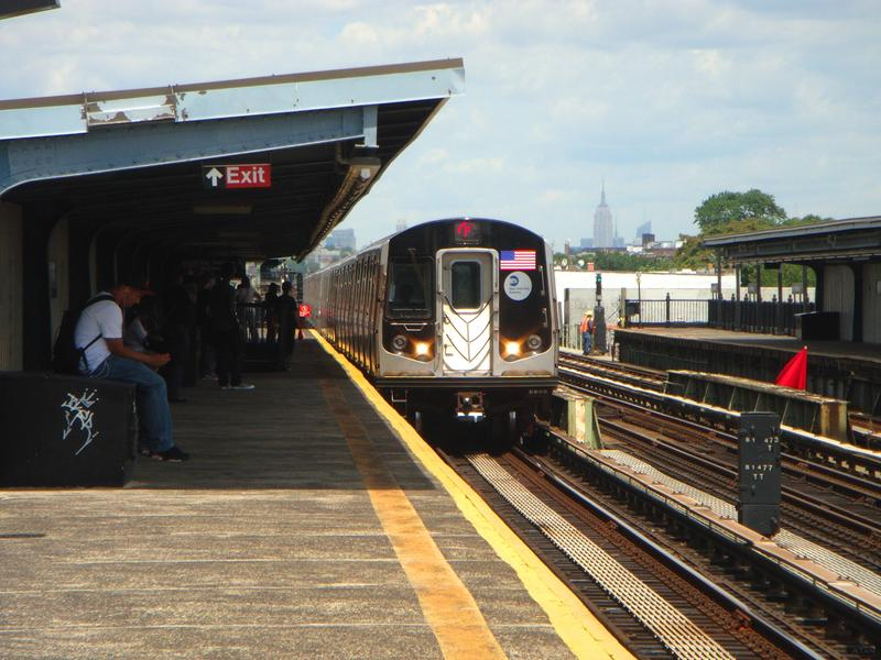 An F train heading for Coney Island