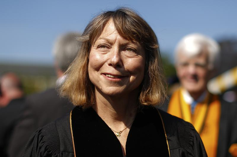 Jill Abramson during commencement ceremonies for Wake Forest University on Sunday. Abramson delivered the commencement address at the university, her first public remarks since she was abruptly fired.