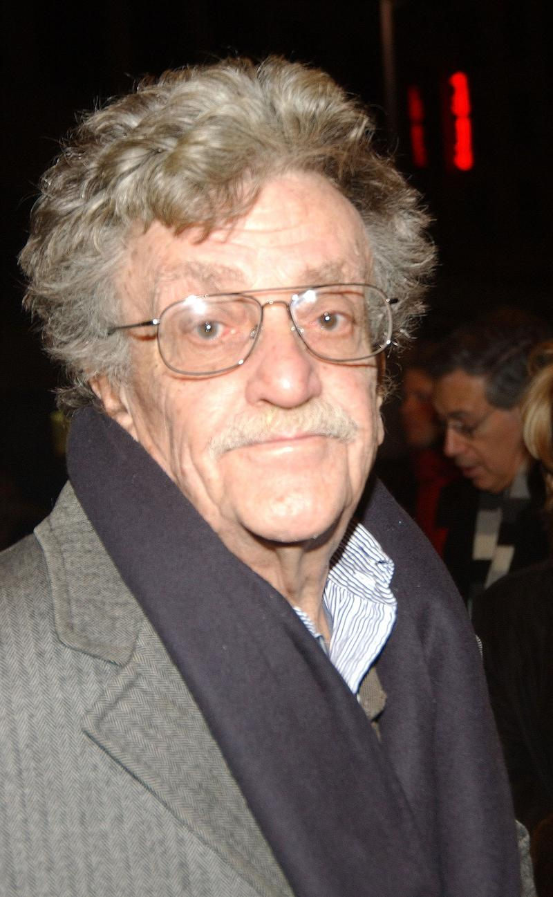 "Kurt Vonnegut  at the opening of ""Brooklyn Boy, February 3, 2005."