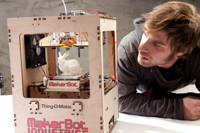 A 3D printer from MakerBot.