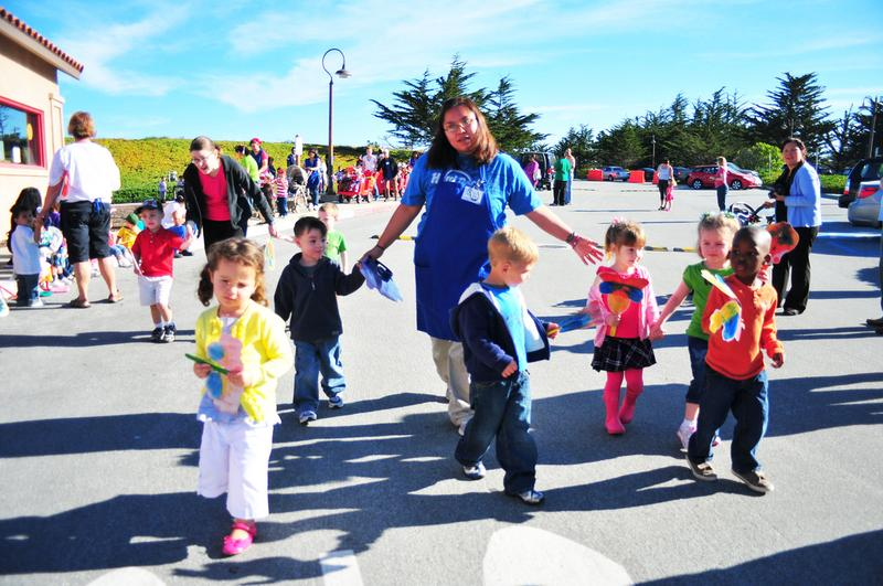 Monterey Road Child Development Center staff, children, parents & volunteers participate in a parade April 1 to celebrate the Month of the Military Child.