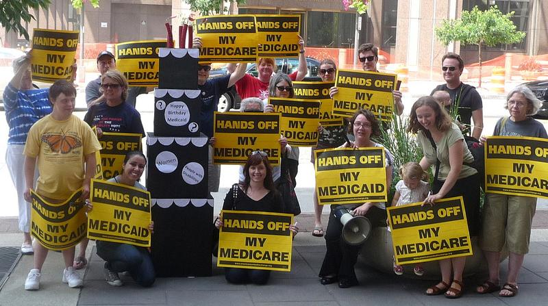 A rally for Medicaid.