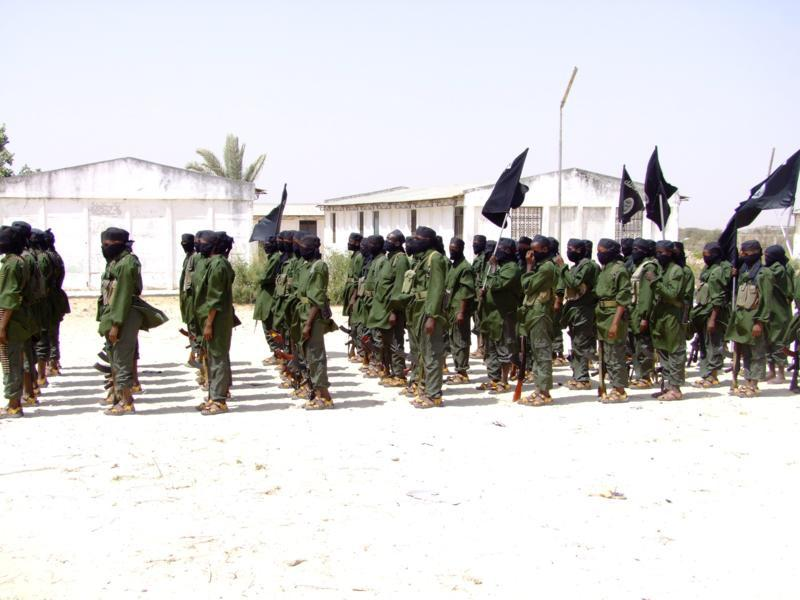 Al-Shabab's local police force in Mogadishu. August 1, 2011