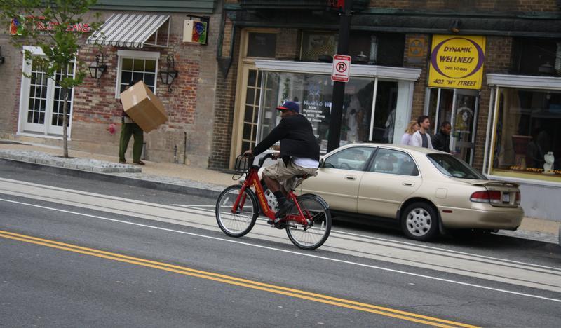 H Street bicyclist