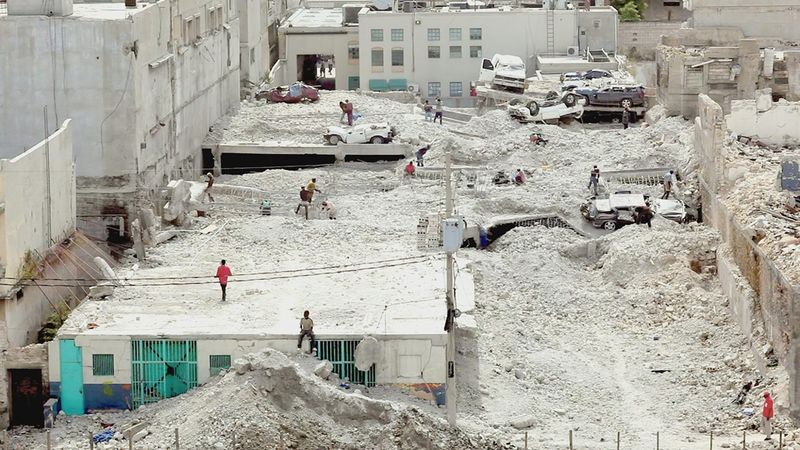 "Port-au-Prince, Haiti, after January 2010 earthquake. From ""Fatal Assistance,"" directed by Paoul Peck."