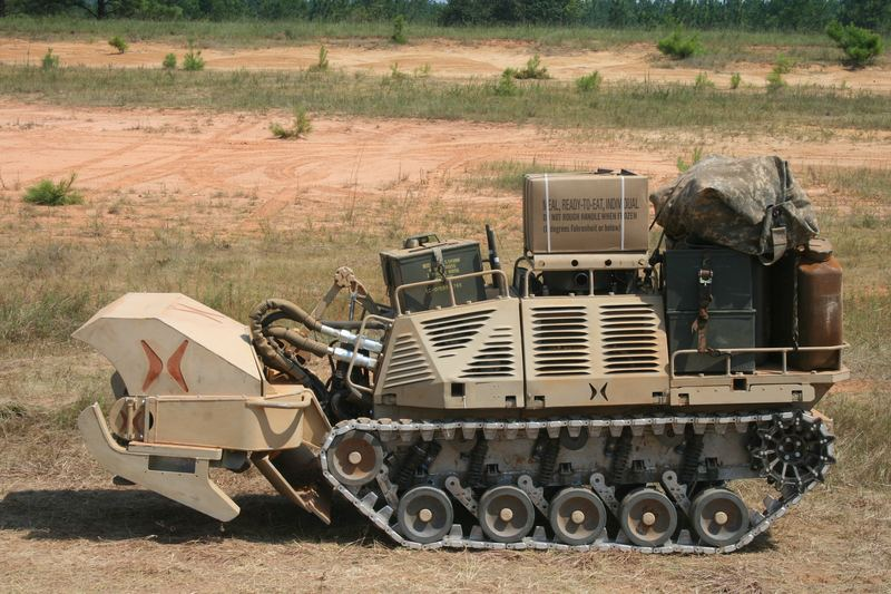 An HDT 'Protector' at the Army Robotics Rodeo at Fort Benning