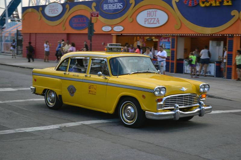 A Checker cab