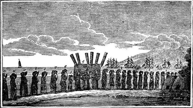 William Ellis, Funeral procession of Keopuolani, Hawaii (1823)