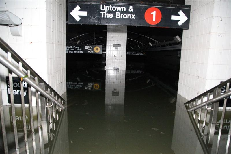 The South Ferry subway station, deluged with seawater during Sandy