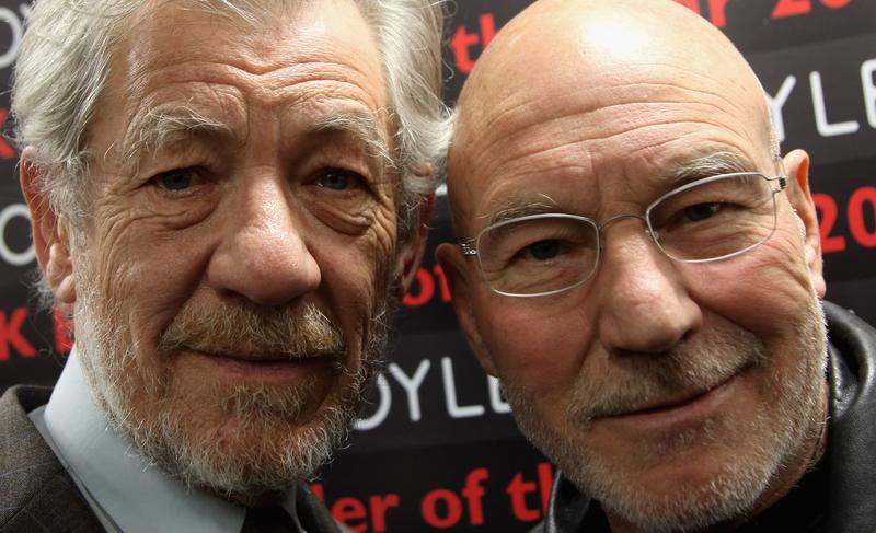 Sir Ian McKellen and Patrick Stewart, April 2009