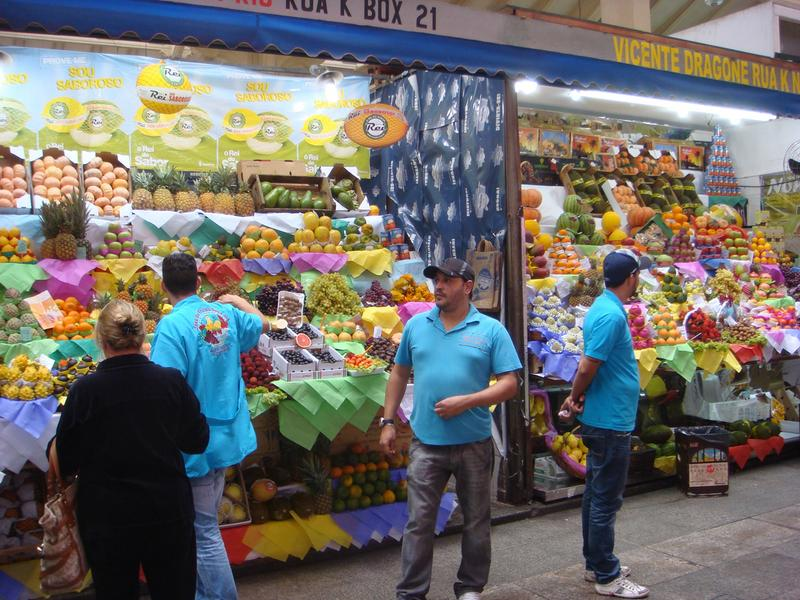 Fruit stand in Brazil.