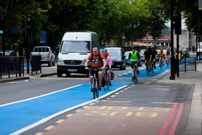 A London bike lane