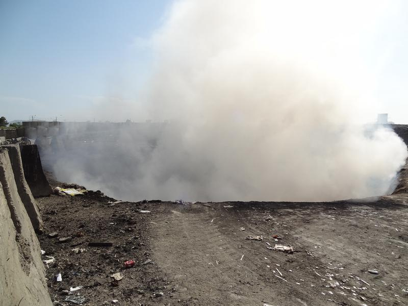 Photo from SIGAR Inspection Report on Forwarding Operating Base Salerno Incinerators and Open-Air Burn Pit.